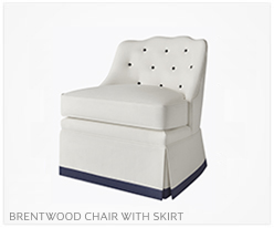 Fine Furniture Brentwood Chair With Skirt