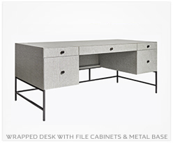 Fine Furniture file cabinets with metal base