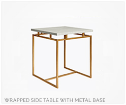 Fine Furniture Side Table with metal base