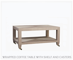Fine Furniture Wrapped Coffee Table With Shelf And Casters