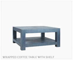 Fine Furniture Parsons Wrapped Coffee Table + Shelf