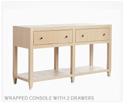 Fine Furniture Console With 2 Drawers