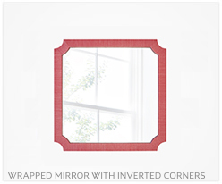 Fine Furniture Mirror With Inverted Corners