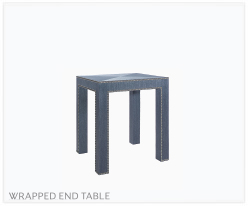 Fine Furniture Parsons Wrapped End Table