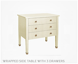 Fine Furniture SideTable With 3Drawers