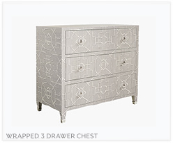 Fine Furniture Sisal Wrapped 3 Drawer Chest
