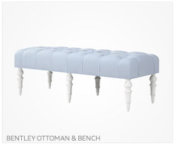 Fine Furniture Bentley Ottoman and Bench