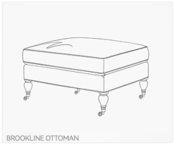 Fine Furniture Brookline Ottoman