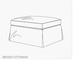 Fine Furniture Bryant Ottoman