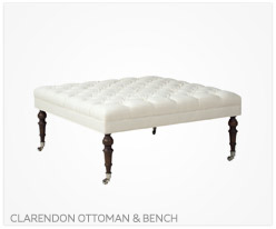 Fine Furniture Clarendon Ottoman and Bench