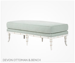 Fine Furniture Devon Ottoman and Bench