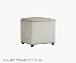Fine Furniture Fair And Square Ottoman