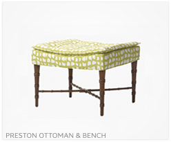 Fine Furniture Preston Ottoman and Bench