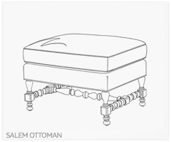 Fine Furniture Salem Ottoman