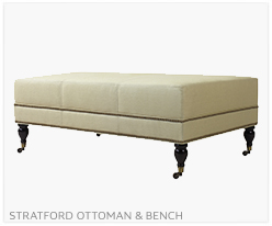 Fine Furniture Stratford Ottoman and Bench