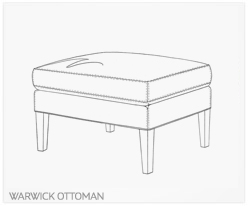 Fine Furniture Warwick Ottoman