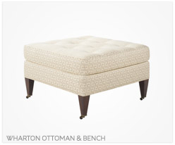 Fine Furniture Wharton Ottoman and Bench
