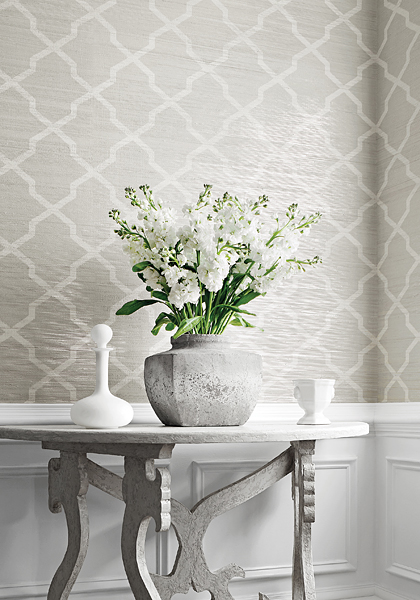 Thibaut Design Carolyn Trellis In Natural Resource 2