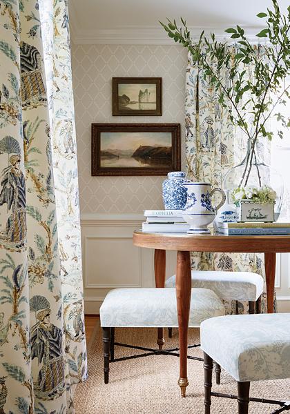 Thibaut Design Pompton Trellis In Chestnut Hill
