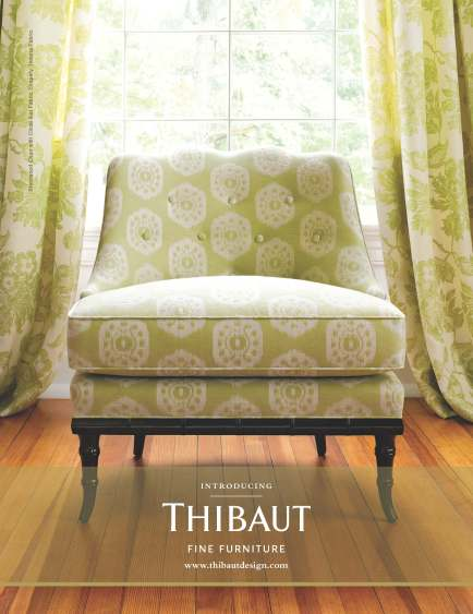 Thibaut Fine Furniture - Circle Ikat Green inspiration big image