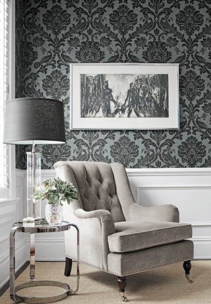 Classic, Trendy and Dramatic Designs in Thibaut's Damask Resource Volume 4