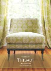 Thibaut Fine Furniture - Circle Ikat Green small image