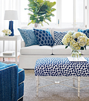 Thibaut Design Navy & White in Calypso