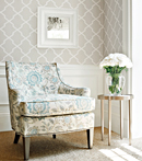 Thibaut Design Carolyn Trellis in Caravan