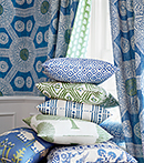 Thibaut Design Blue and Green series in Ceylon