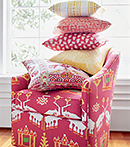 Thibaut Design Pink and Yellow Series in Ceylon