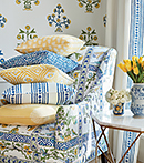 Thibaut Design Yellow & Blue series in Ceylon