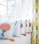 Thibaut Design Tiverton fabric series in Ceylon