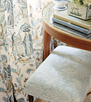 Thibaut Design Royale Toile Drapery in Chestnut Hill