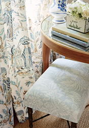 Royale Toile Drapery from Chestnut Hill Collection