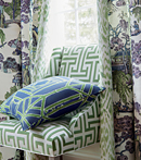 Thibaut Design Asian Scenic Fabric in Dynasty