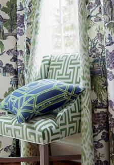 Asian Scenic Fabric from Dynasty Collection