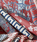 Thibaut Design Red & Blue Group in Dynasty