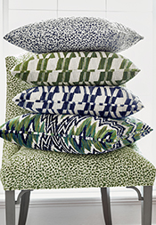 Navy & Emerald Color Series from Woven Resource 13: Fusion Velvets Collection
