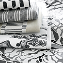Thibaut Design Charcoal Fabric Series in Nara