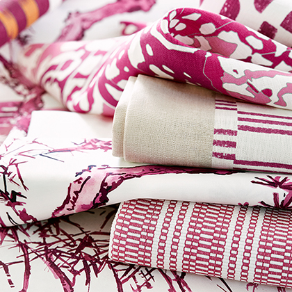 Fuchsia Fabric Series from Nara Collection