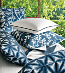 Thibaut Design Blue Pillows in Portico