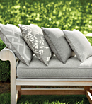 Thibaut Design Grey Pillows in Portico