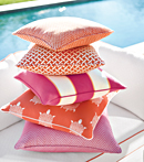 Thibaut Design Orange Pillows in Portico
