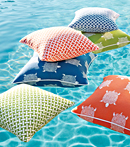Thibaut Design Pillows in the Pool in Portico