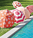Thibaut Design Umbrellas in Portico