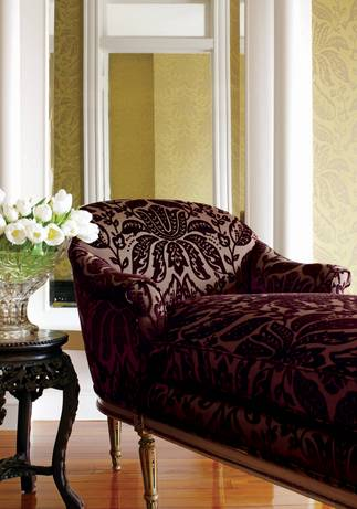 Thibaut Design Luxembourg Damask in Residence