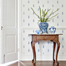 Thibaut Design Manor Wallpaper in Small Scale