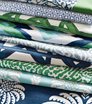 Thibaut Design Blue and Green Group in Summer House