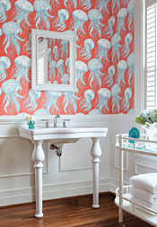 Jelly Fish Bloom from Bathroom & Powder Room Collection