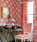 Thibaut Design Palm Island in Summer House